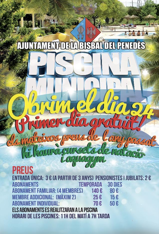 Ajuntament de la bisbal del pened s piscina municipal 2015 - Tiempo la bisbal del penedes ...