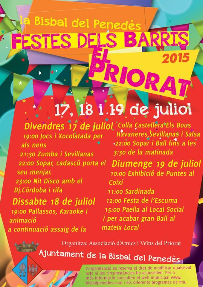 Ajuntament de la bisbal del pened s festa del barri priorat - Tiempo la bisbal del penedes ...