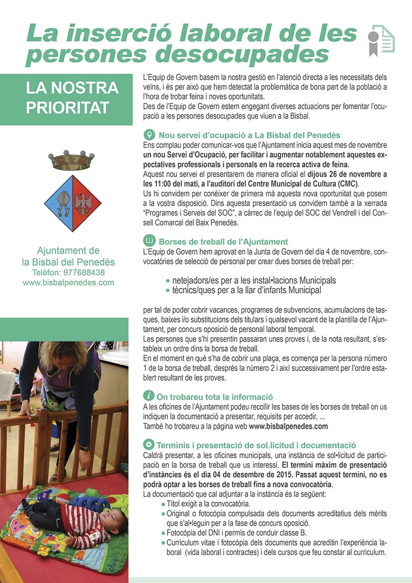 Ajuntament de la bisbal del pened s borsa de treball - Tiempo la bisbal del penedes ...