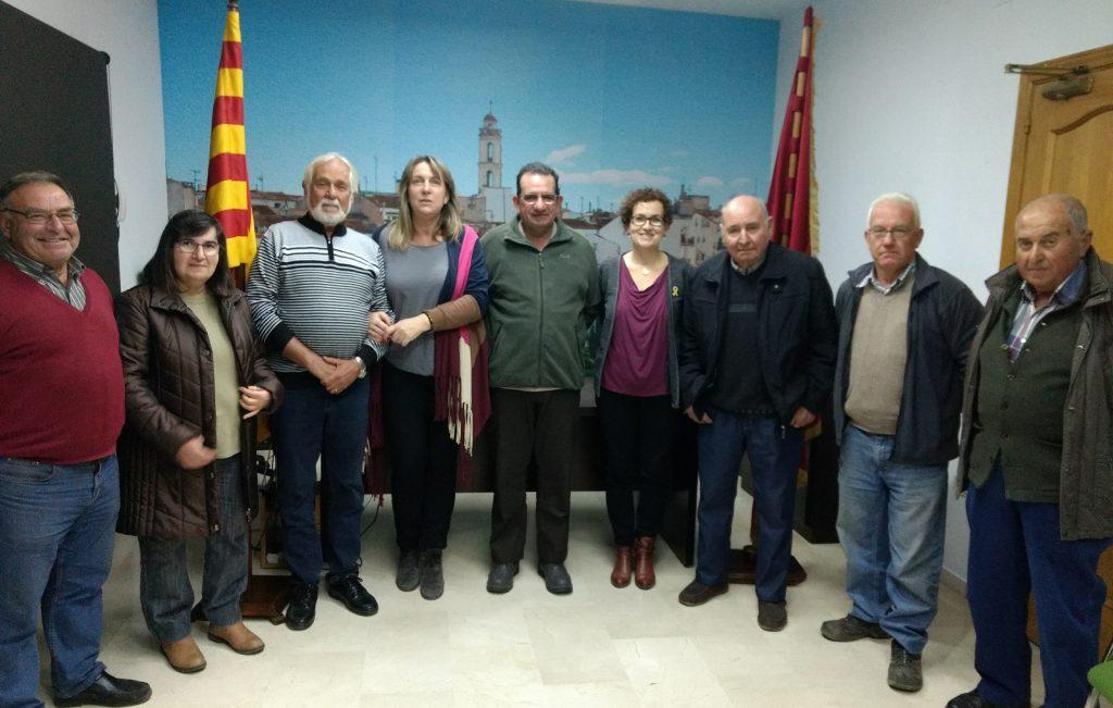 Membres de l'Associacio dels 3 tombs de La Bisbal