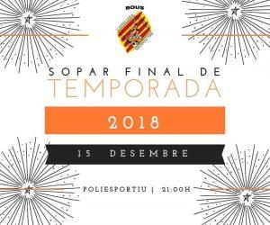 SOPAR FINAL DE TEMPORADA BOUS