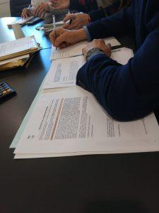 mesa de contractacio