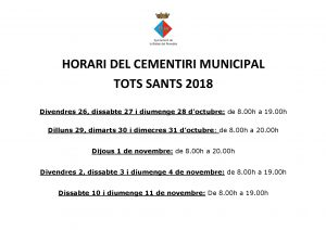 HORARI CEMENTIRI 2018-001