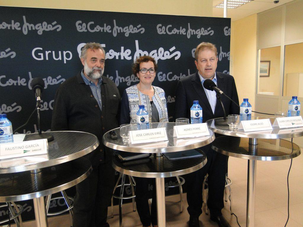 José Carlos Eiriz, director general de la Fundació Privada Santa Teresa; Agnès Ferré, alcaldessa de la Bisbal del Penedès; Isidre Also, secretari general de la Federació Empresarial del Gran Penedès