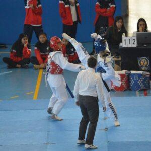 Gloria Ruiz competint al Campionat de Catalunya