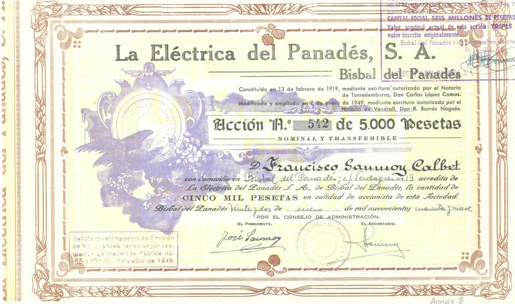 ACCIo ELeCTRICA DEL PANADeS