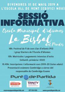 SESSIO ESCOLA IDIOMES FI CURS 2019