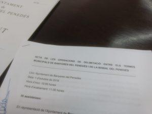 COMISSIO DELIMITACIO BANYERES 1OCT2019