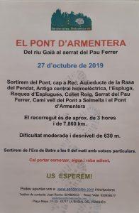 SENDERISTES PONT D'ARMENTERA 27 D'OCTUBRE