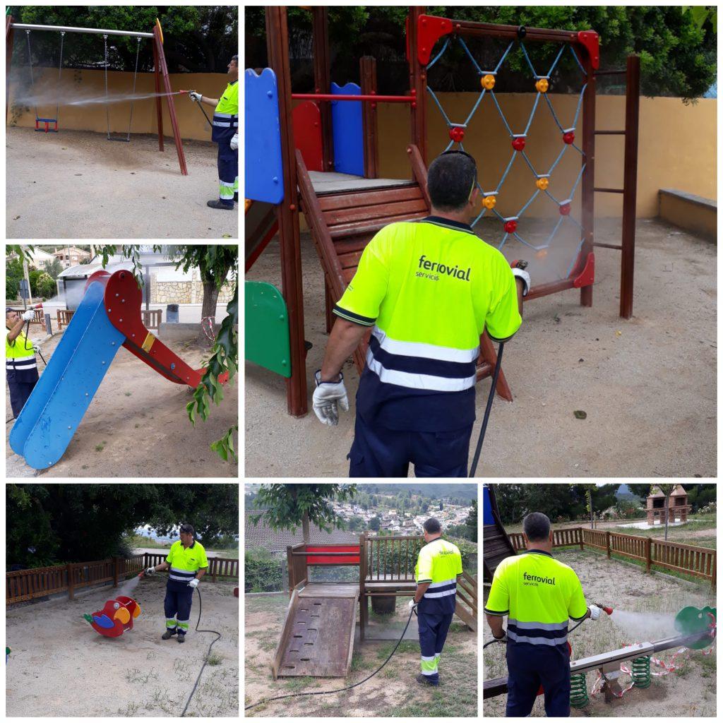 Desinfeccio parcs infantils