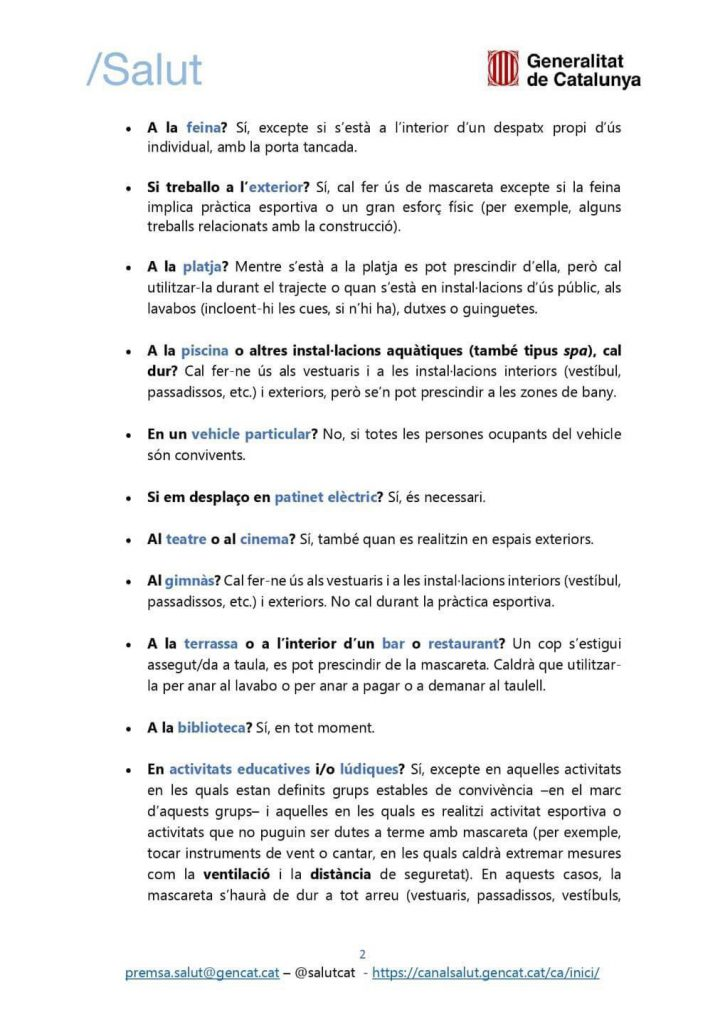 FAQS MASCARETA 2