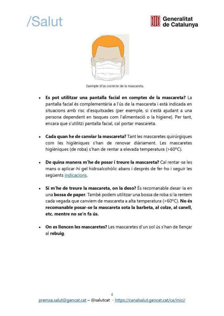 FAQS MASCARETA 4