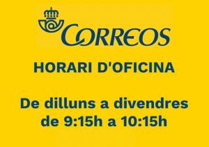 HORARI CORREUS