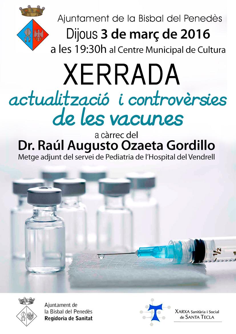 Xerrada Actualització i controvèrsies de les vacunes