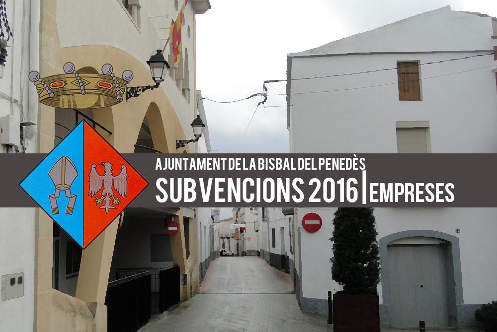 Subvencions 2016, per a empreses del terme que ocupin persones desocupades de la població