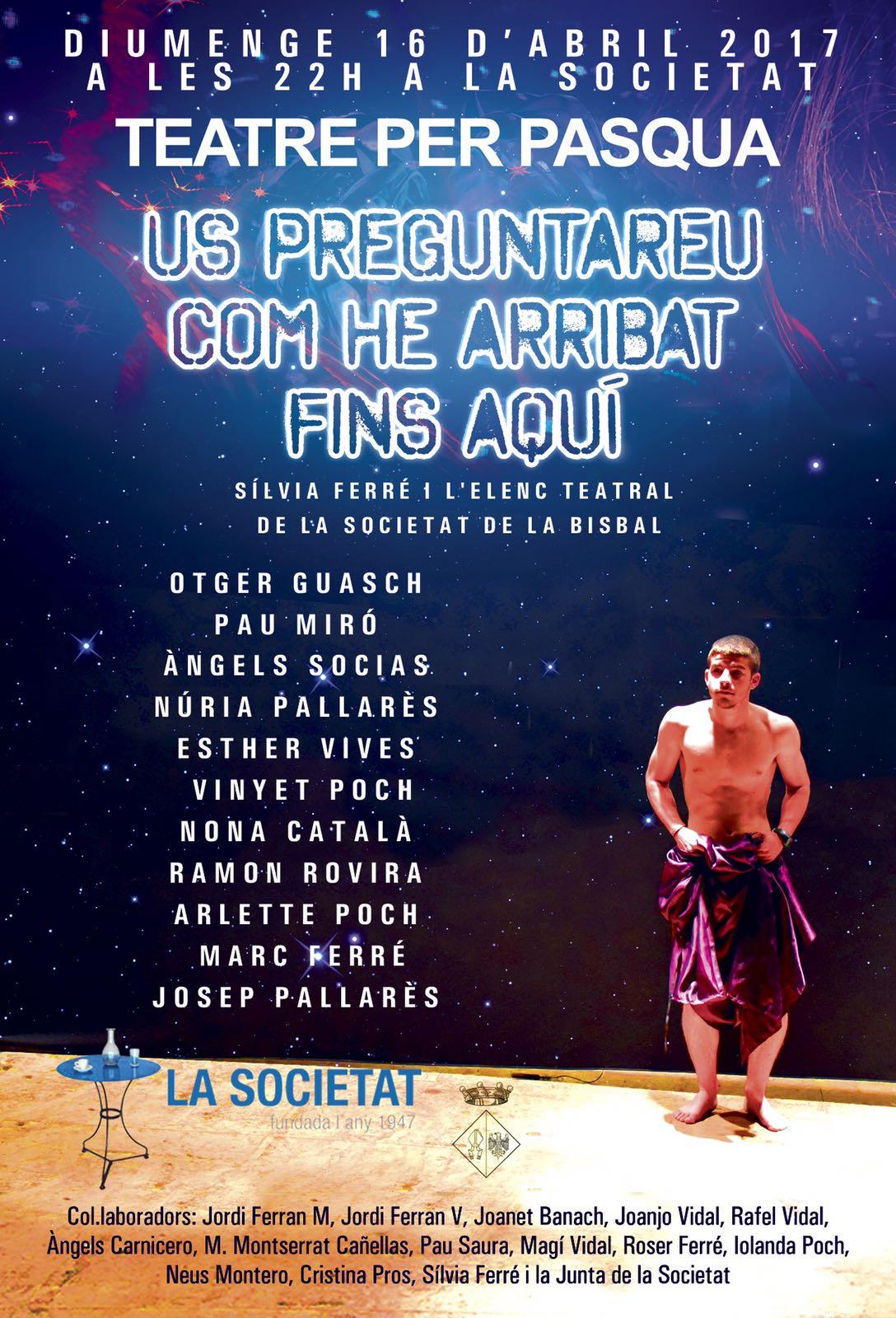 L'elenc teatral de la Societat Cultural i Recreativa Bisbalenca representa una nova obra el diumenge 16 d'abril