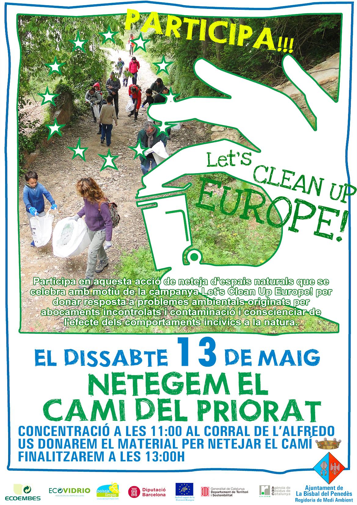 Aquest dissabte 13 de maig arriba el 'Let's clean up Europe' a La Bisbal