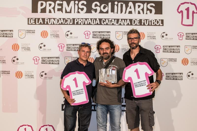 El CF Joventut Bisbalenca rep el Premi Solidari al Foment dels Valors