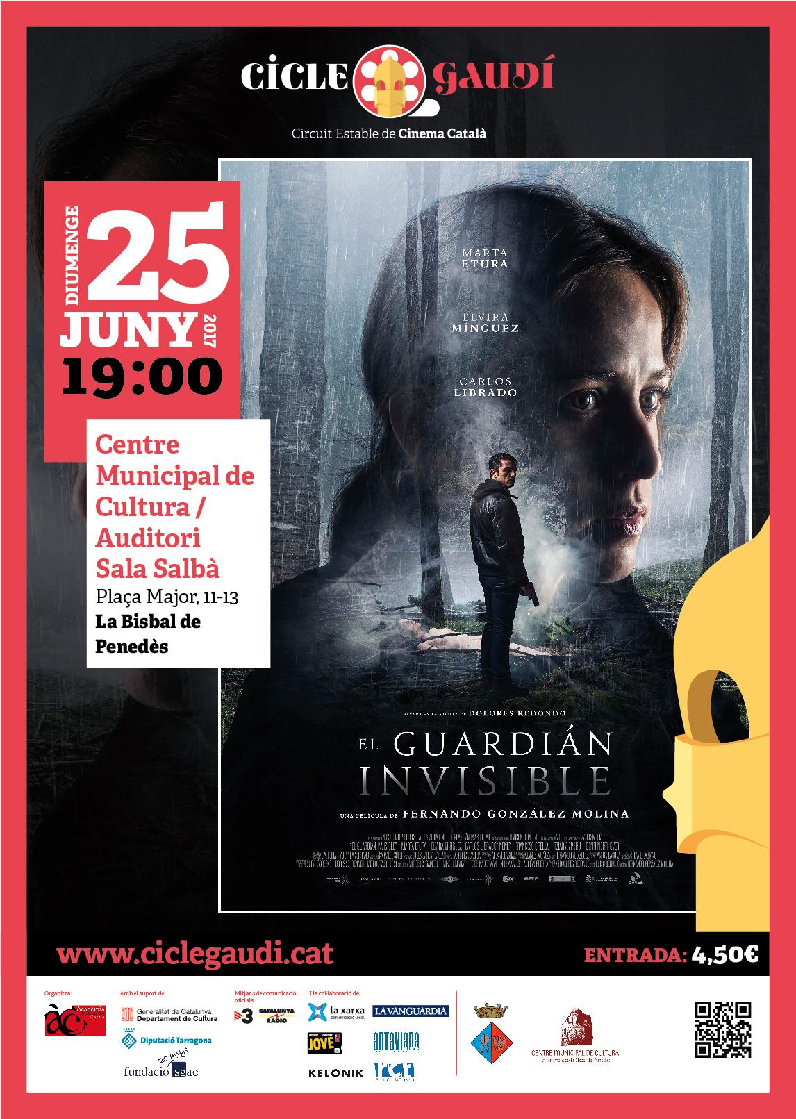 El 25 de juny es projectarà 'El guardián invisible' al CMC en el marc del Cicle Gaudí