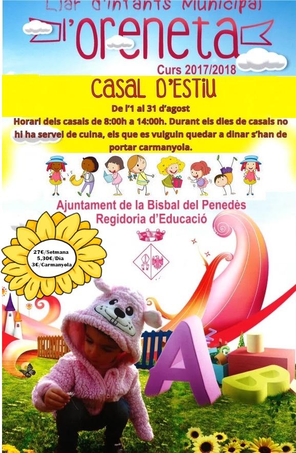 La Llar d'Infants Municipal l'Oreneta farà el Casal d'Estiu de l'1 al 31 d'agost