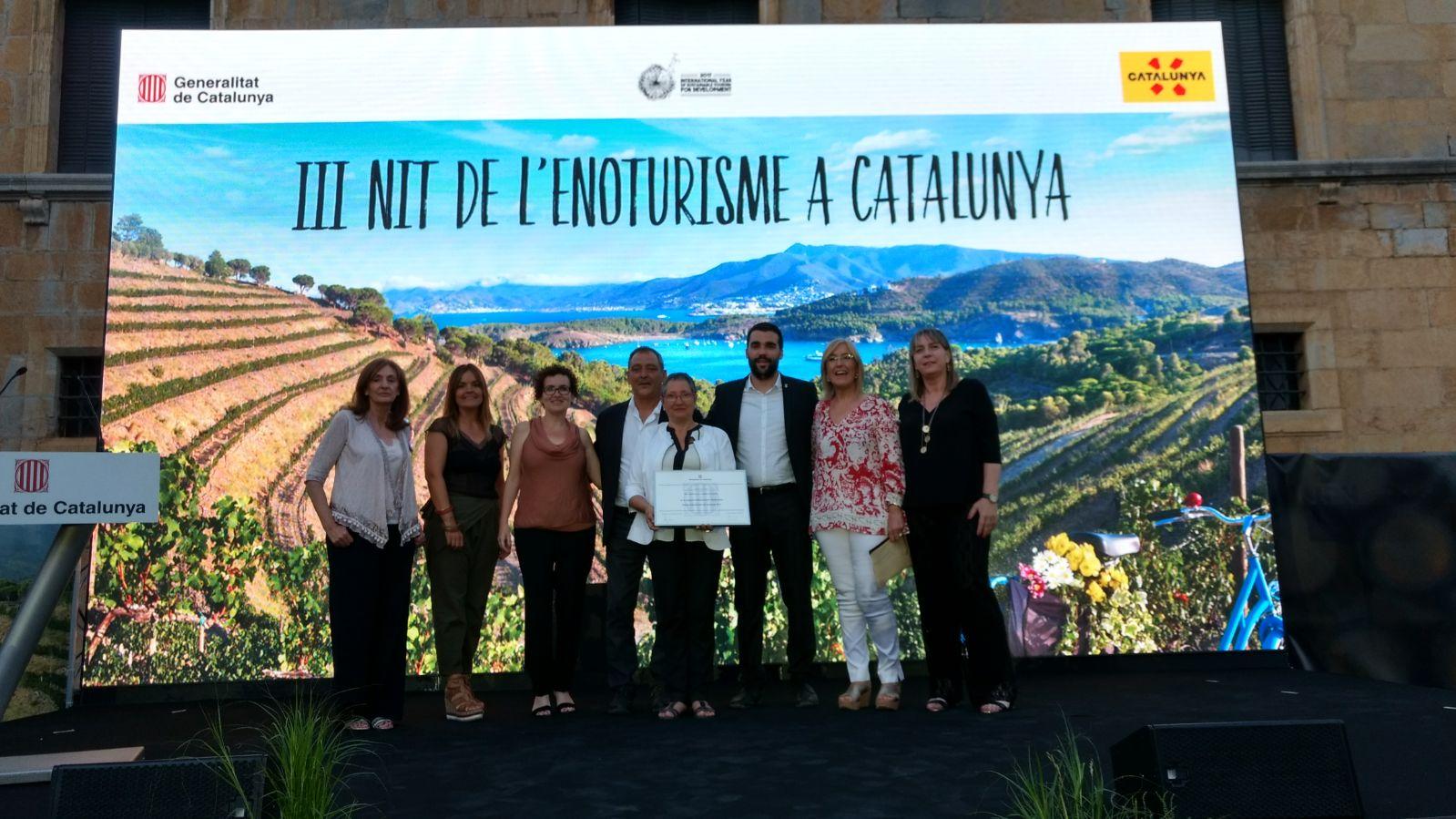 Mas Llagostera rep el Premi d'Enoturisme de Catalunya en la categoria d'Allotjament i Restauració