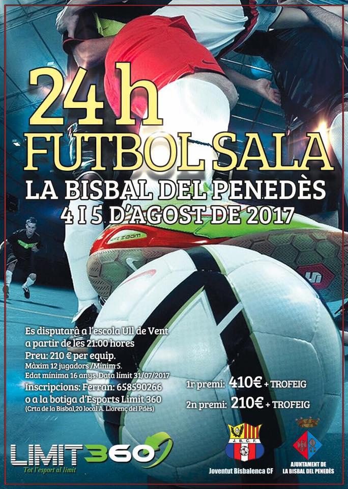 La Bisbal del Penedès acollirà les 24h de Futbol Sala el proper cap de setmana
