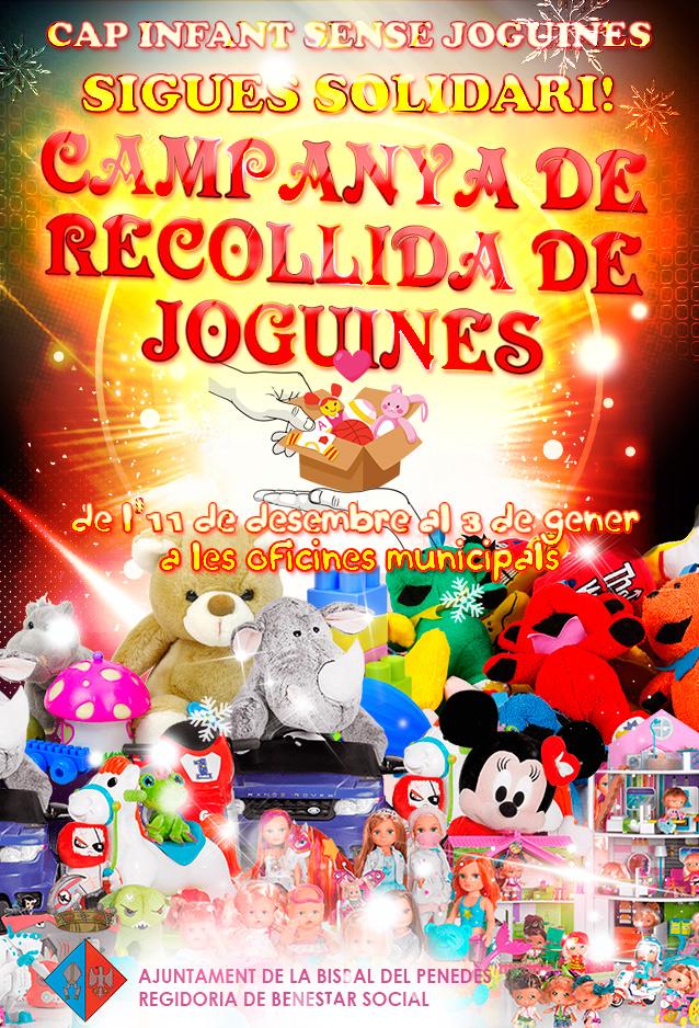 La Regidoria de Benestar Social promou un any més la campanya 'Cap infant sense joguines'
