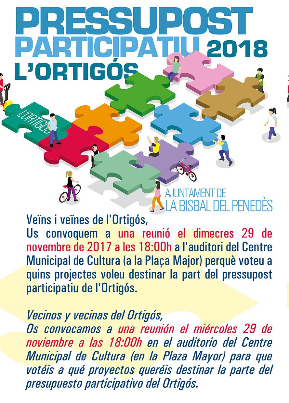 Aquesta setmana es voten els projectes dels pressupostos participatius de Can Gordei, L'Esplai, L'Ortigós i el Priorat