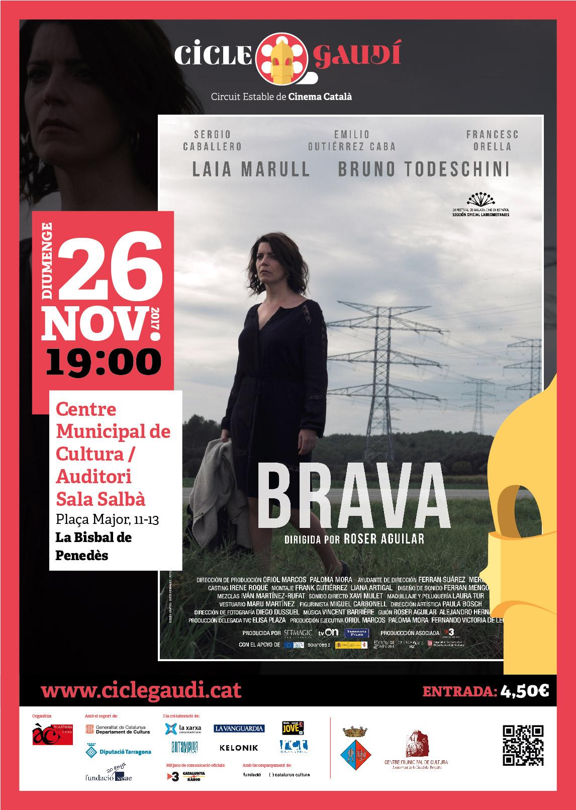 El diumenge 26 de novembre es projectarà 'Brava' a La Bisbal del Penedès en el marc del Cicle Gaudí