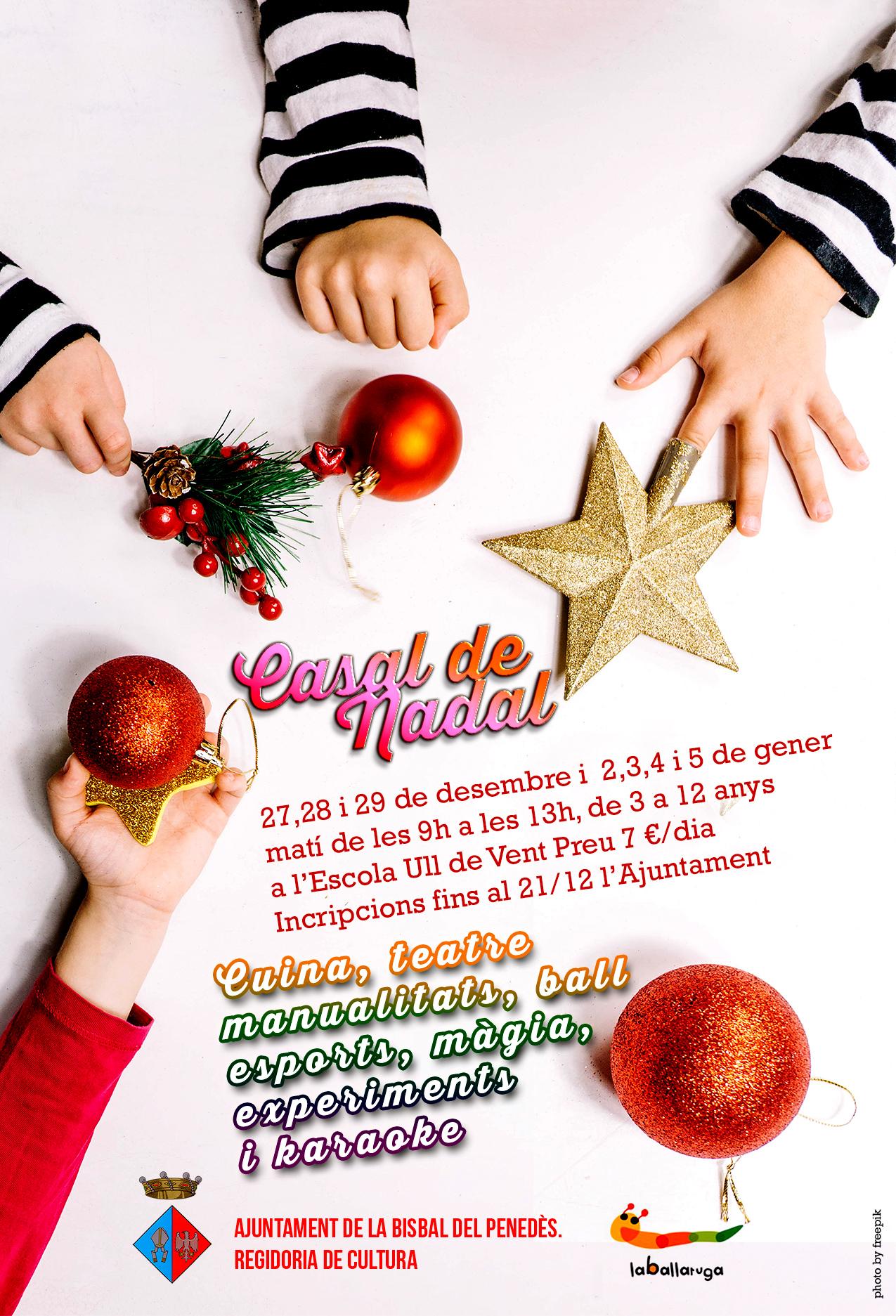 Del 27 de desembre al 5 de gener gaudeix del Casal de Nadal
