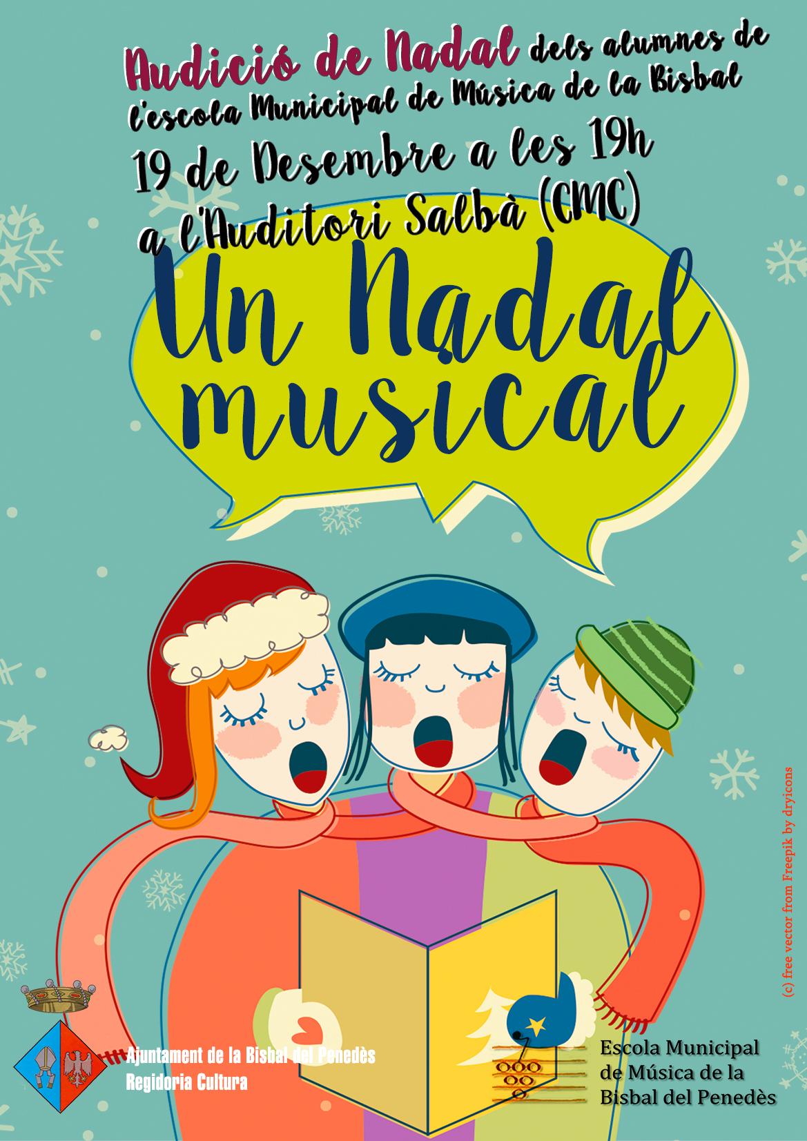 El 19 de desembre els alumnes de l'Escola Municipal de Música faran una audició