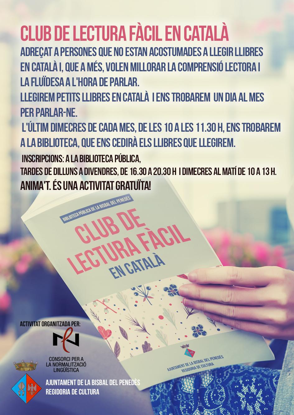 Apunta't al Club de Lectura Fàcil en Català!