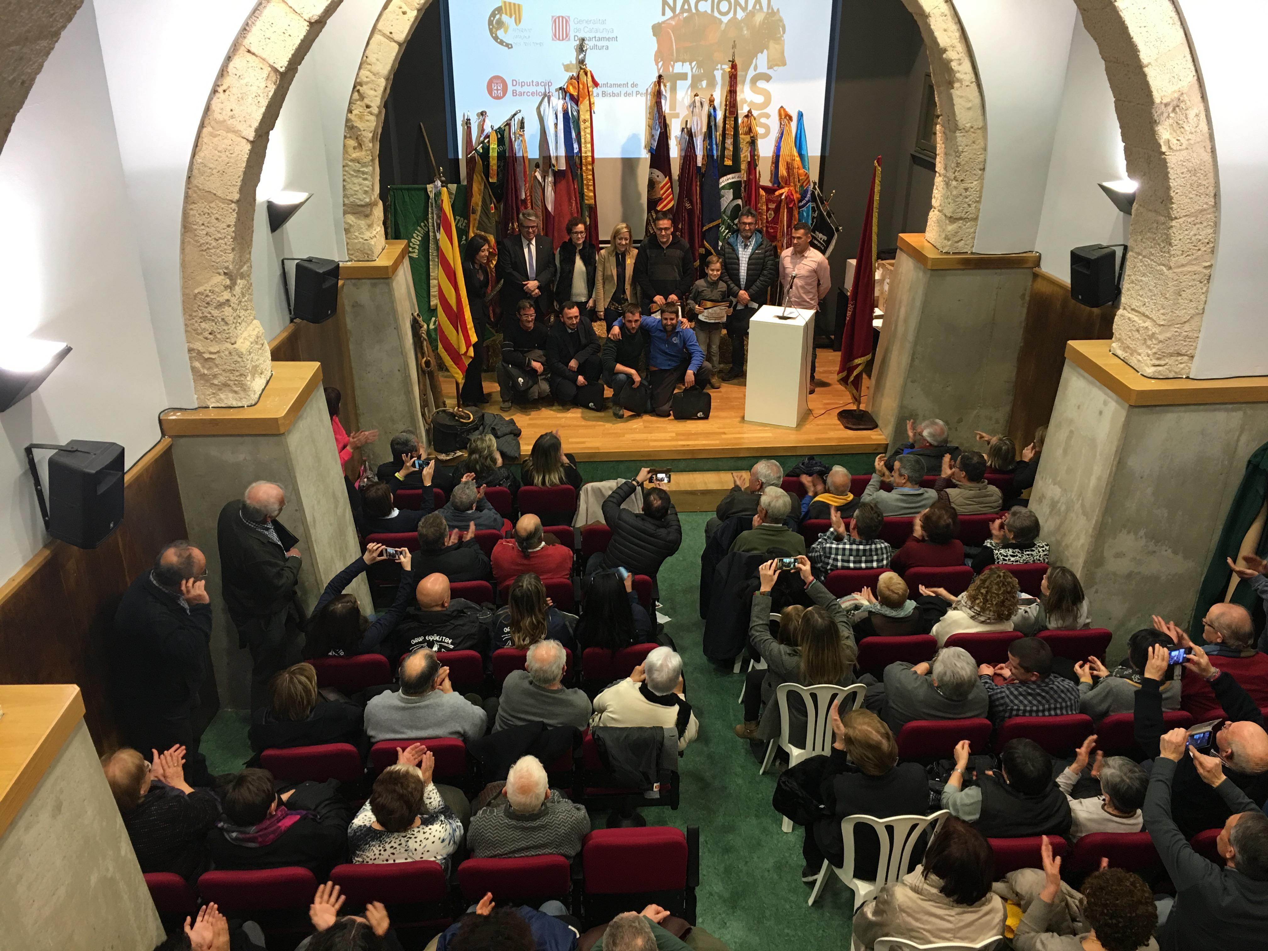 La Bisbal del Penedès ha acollit aquest dijous 11 de gener de l'inici oficial de la temporada dels Tres Tombs a Catalunya