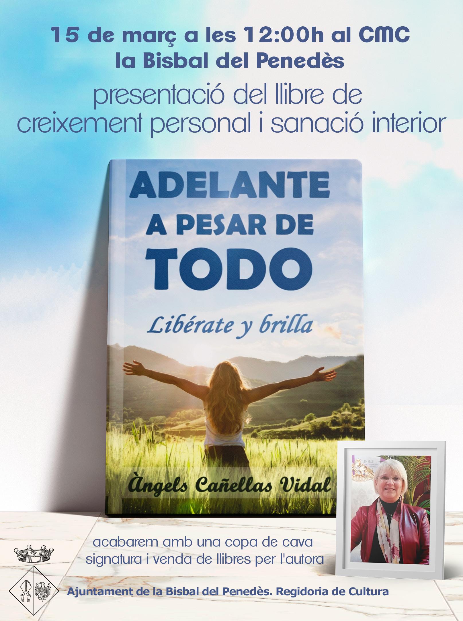 """Àngels Cañellas presentarà el seu llibre """"Adelante a pesar de todo"""" el 15 de març a les 12h al CMC"""