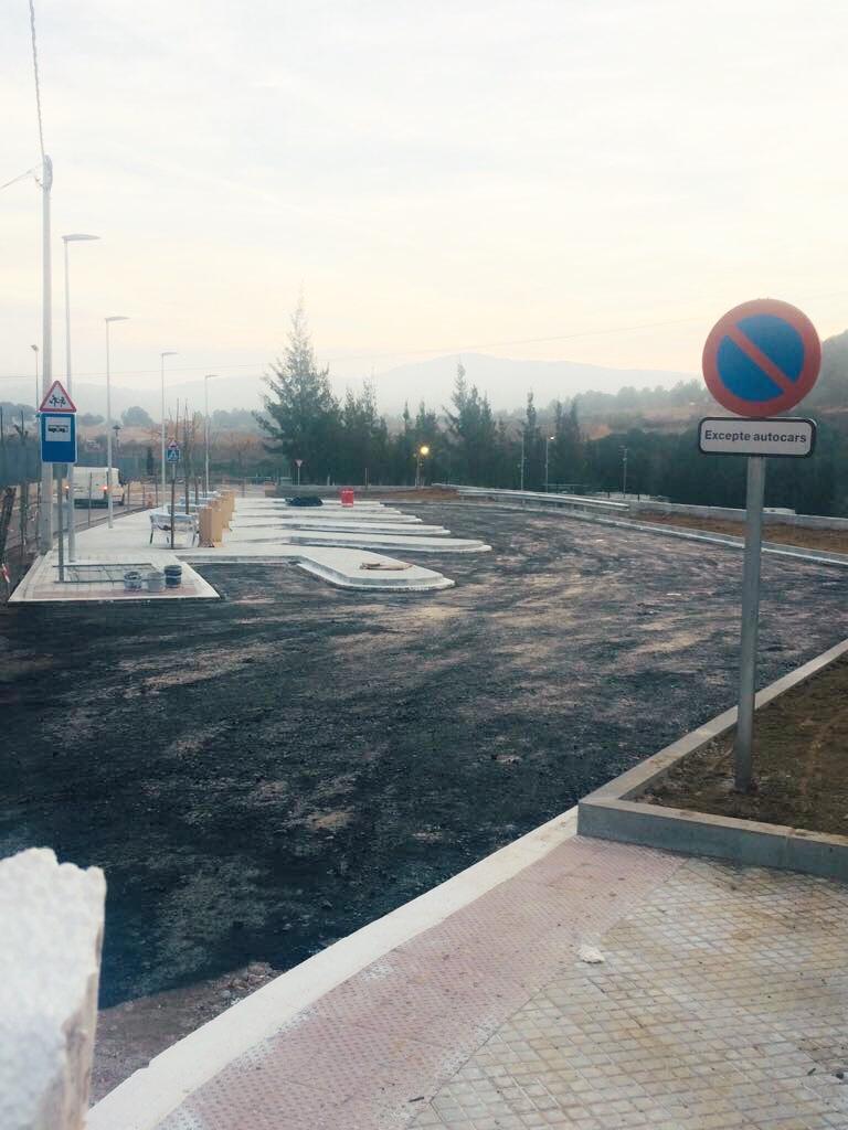 Els treballs de l'aparcament d'autobusos de l'Institut Coster de la Torre estan en la seva darrera fase