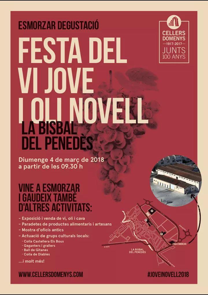 Aquest diumenge 4 de març tindrà lloc la 'Festa del vi jove i l'oli novell' a La Bisbal del Penedès
