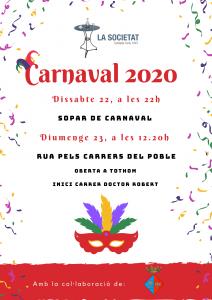 cartell actes de carnaval