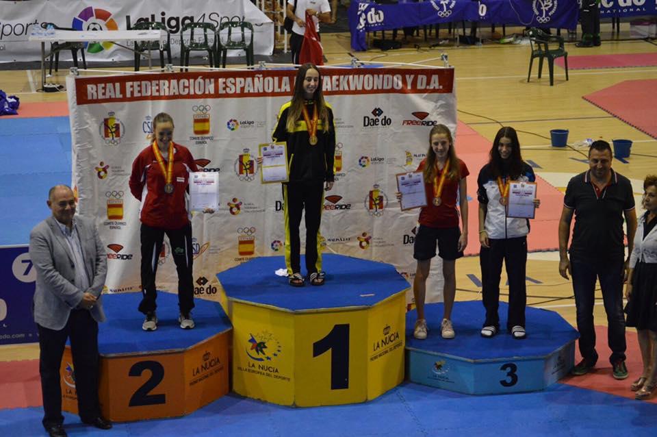 La taekwondista bisbalenca Gloria Ruiz Navarro s'ha proclamat per tercer any consecutiu campiona d'Espanya