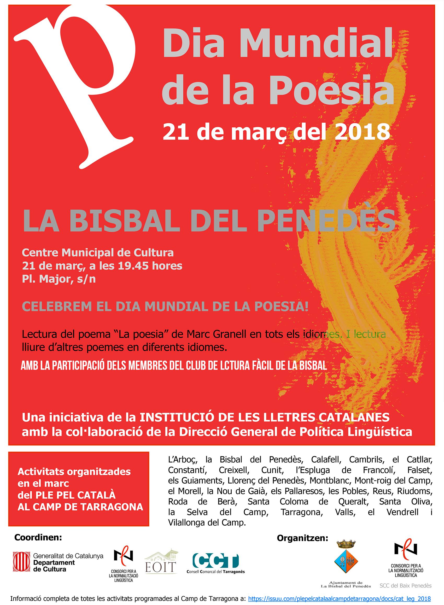 El dia 21 de març celebrarem el Dia Mundial de la Poesia