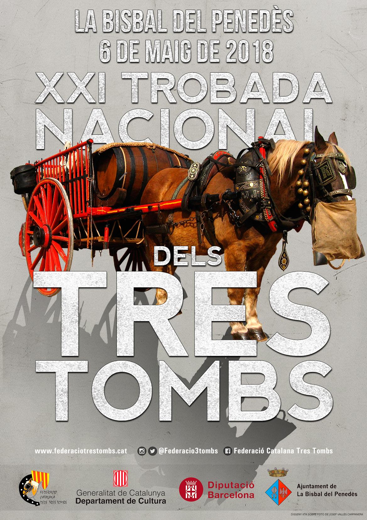 La Bisbal del Penedès acollirà la XXI Trobada Nacional dels Tres Tombs el proper diumenge 6 de maig