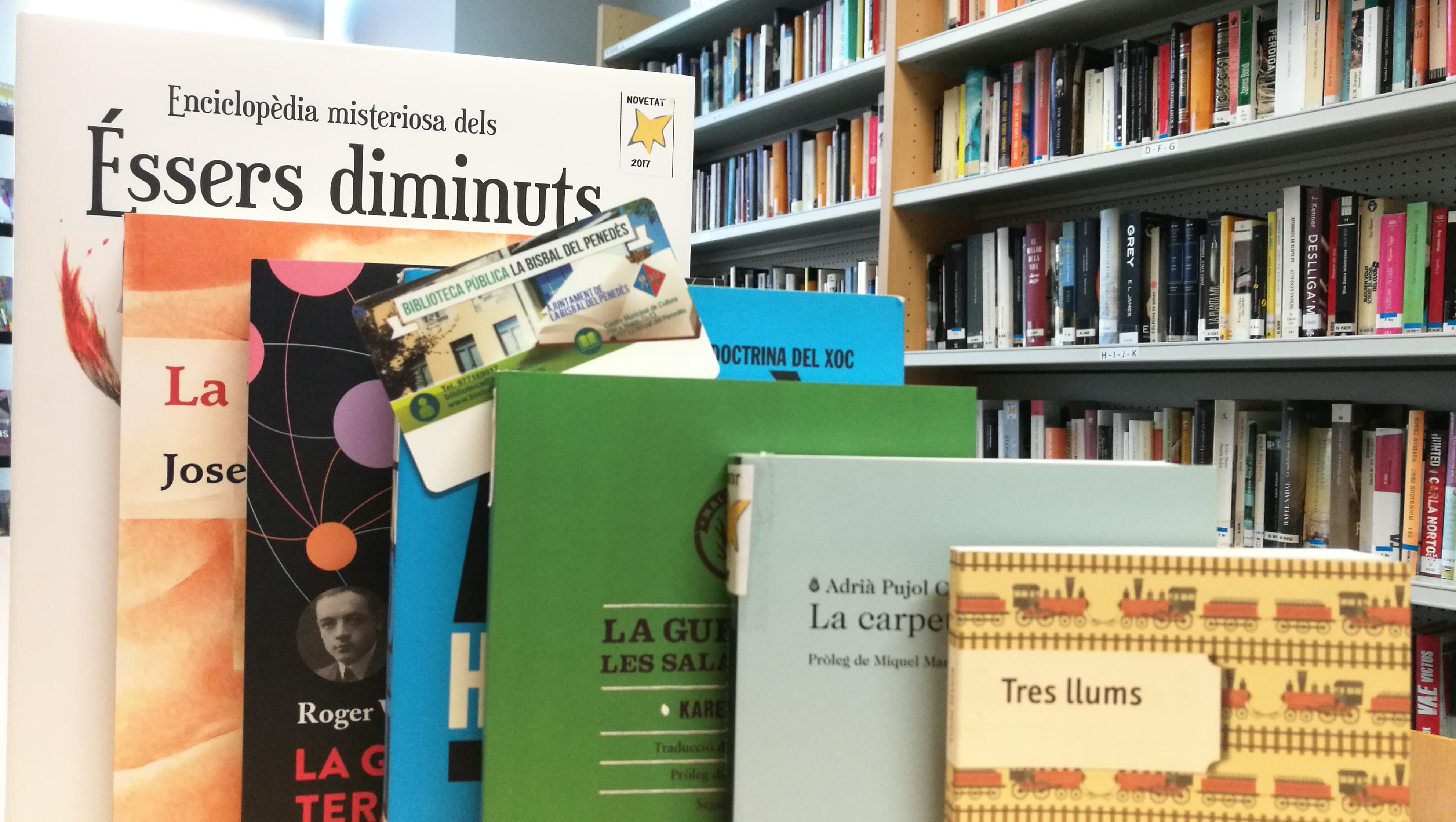 A la Biblioteca de la Bisbal pots agafar en préstec els documents de qualsevol biblioteca del Sistema de Lectura Pública de Catalunya