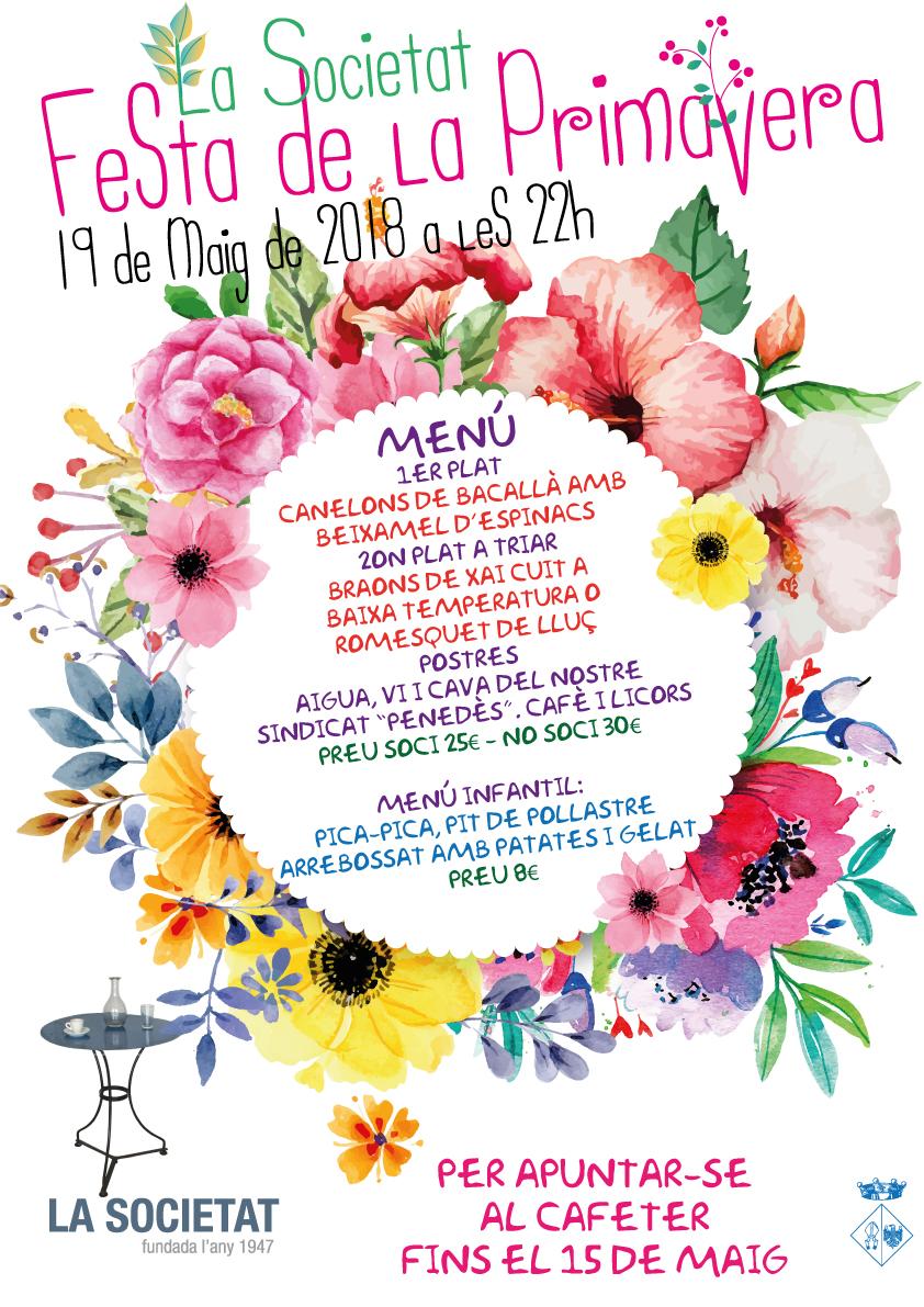 El 19 de maig La Societat celebra la 'Festa de la Primavera'