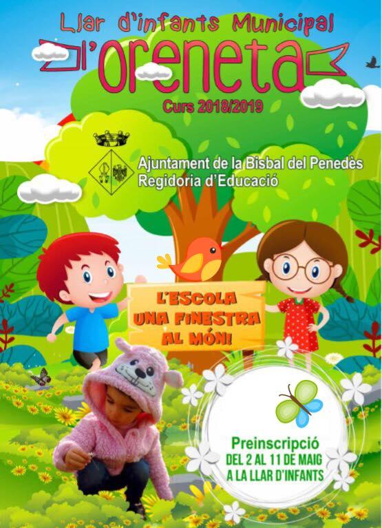Del 2 a l'11 de maig es poden fer les preinscripcions a la Llar d'Infants l'Oreneta