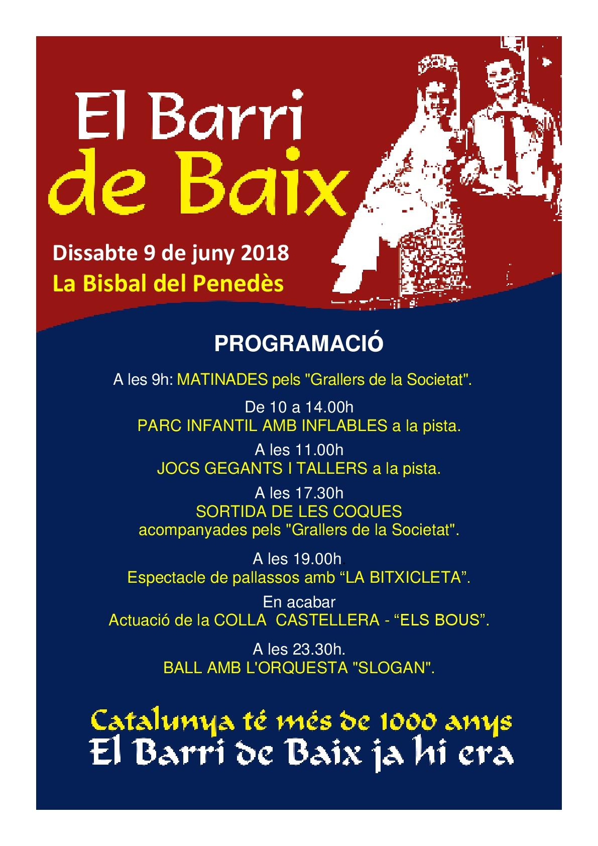 El Barri de Baix celebra la seva festa el proper dissabte 9 de juny