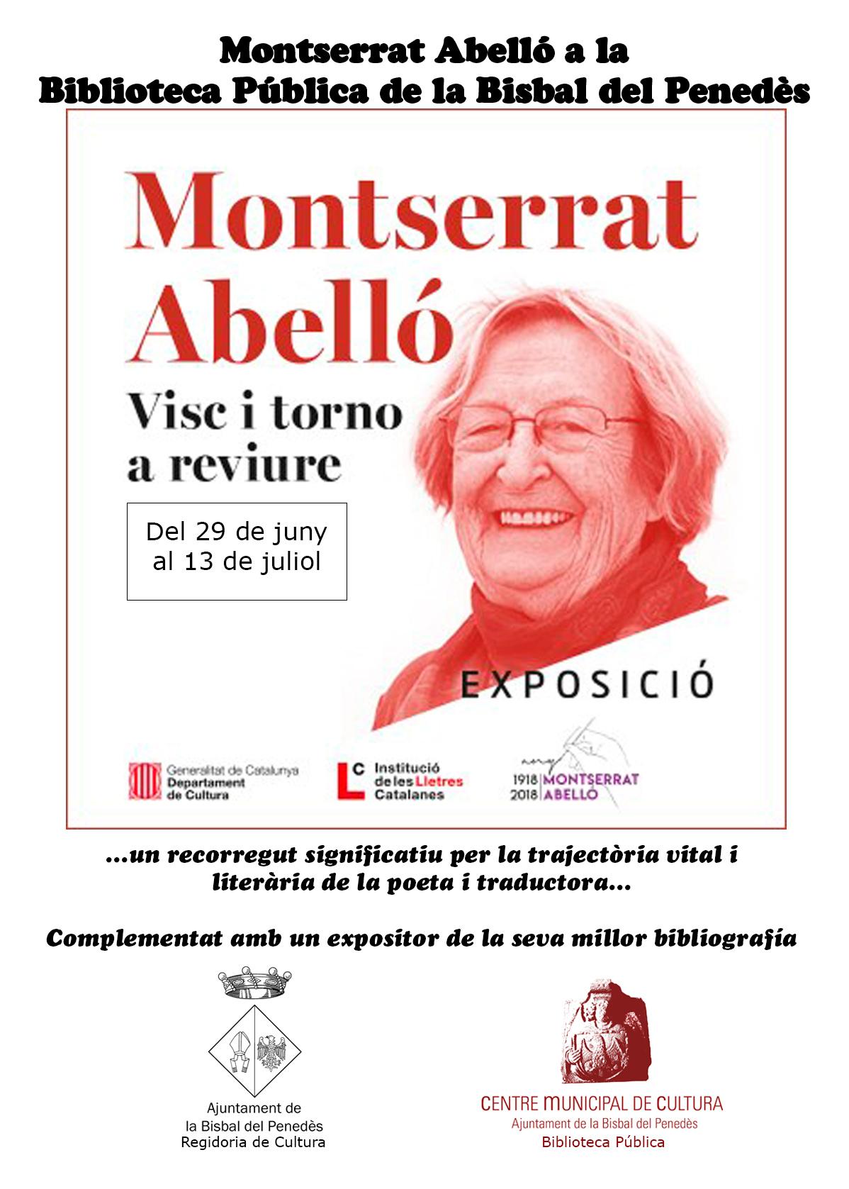 La Biblioteca Pública de la Bisbal del Penedès acollirà l'exposició 'Montserrat Abelló: Visc i torno a viure' a partir del 29 de juny