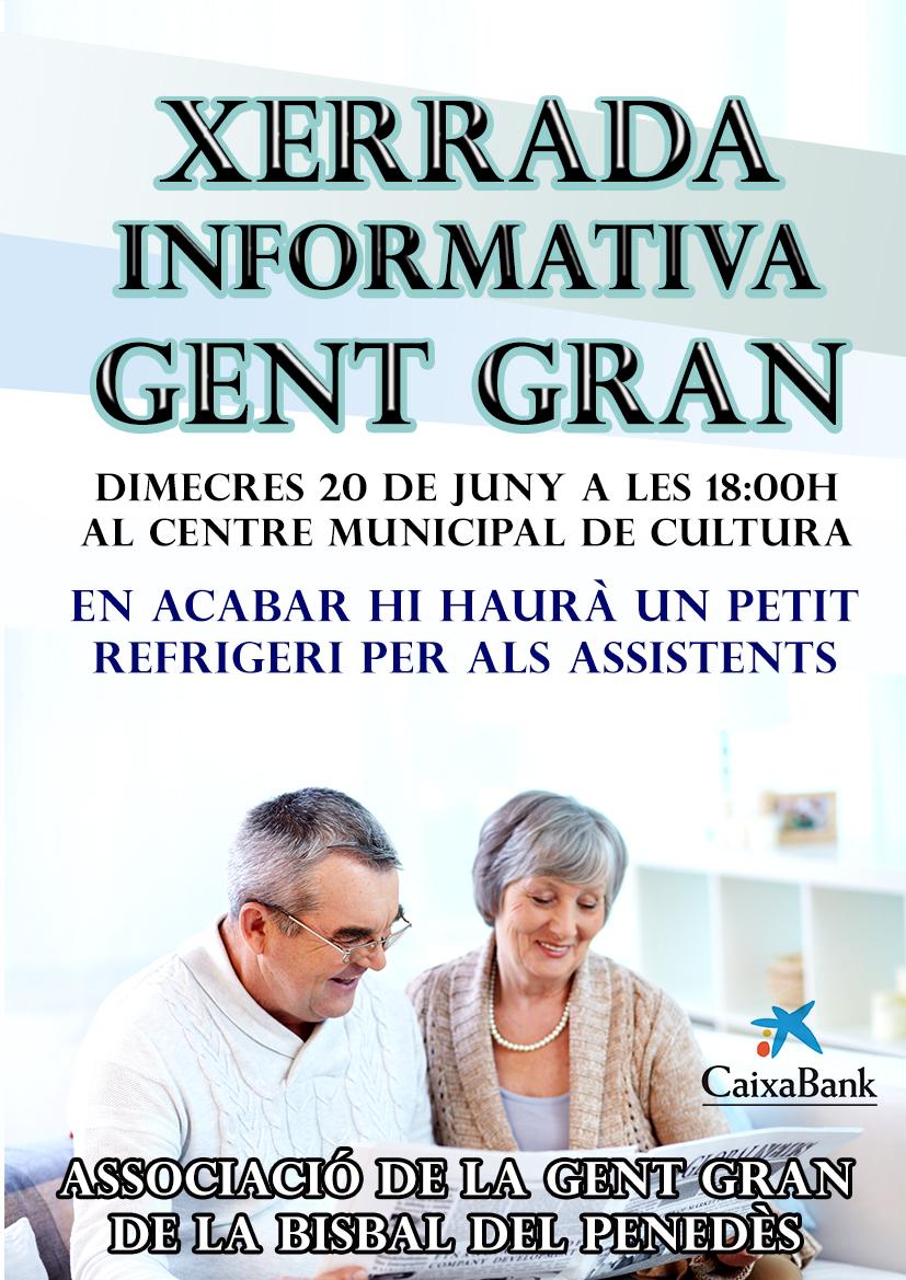 El dimecres 20 de juny hi haurà una xerrada informativa organitzada per l'Associació de la Gent Gran