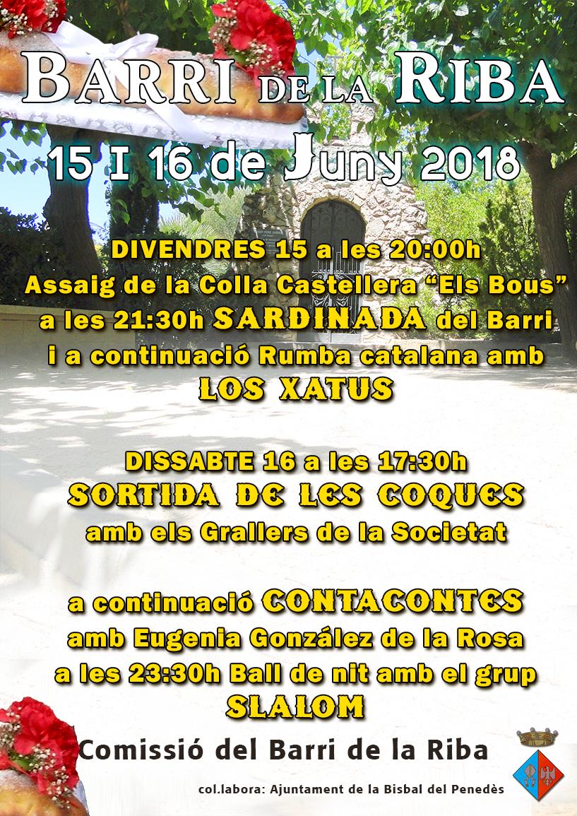 Aquest cap de setmana se celebra la festa del Barri de la Riba