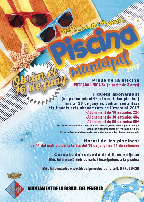 La piscina municipal obre les seves portes el dissabte 16 de juny