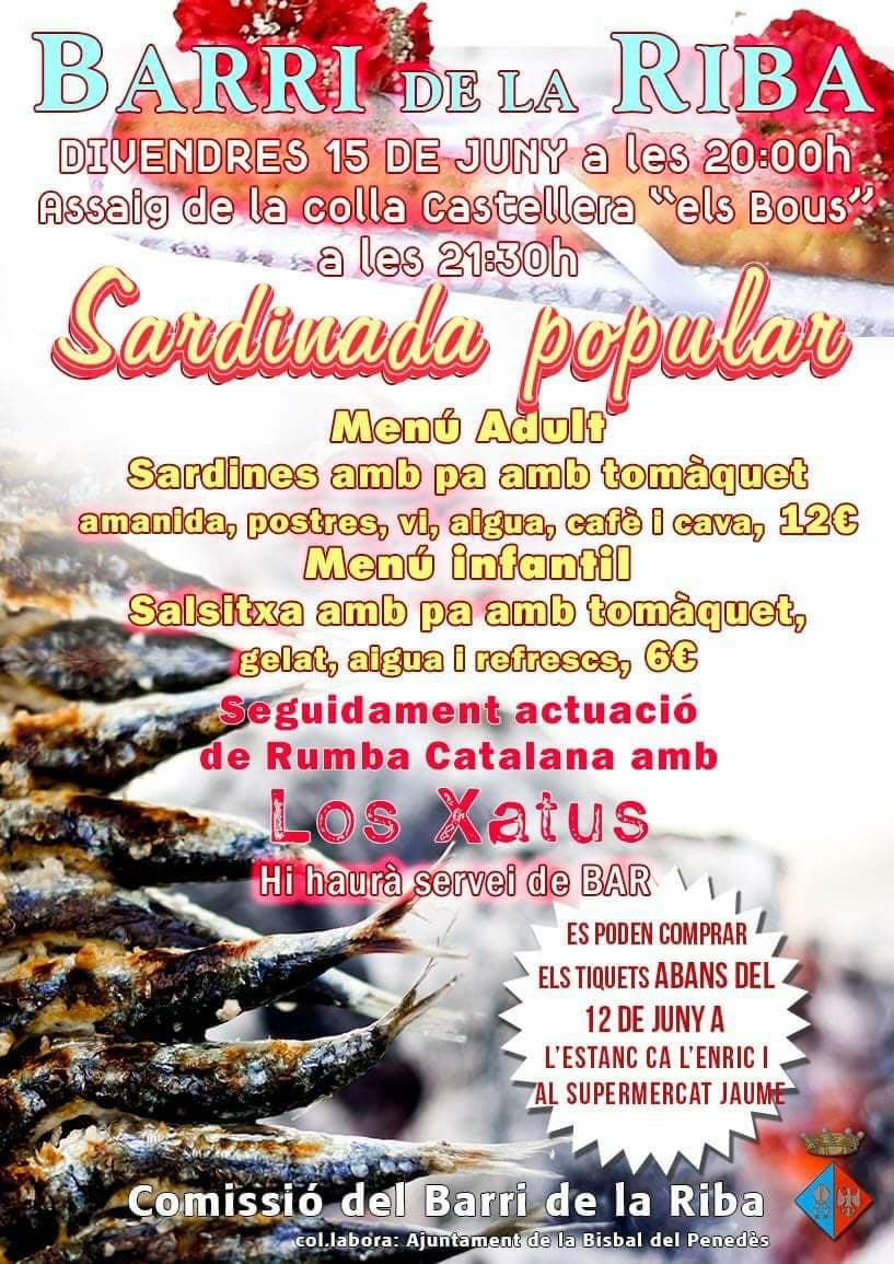 Ja estan a la venda els tiquets per a la Sardinada Popular del Barri de la Riba