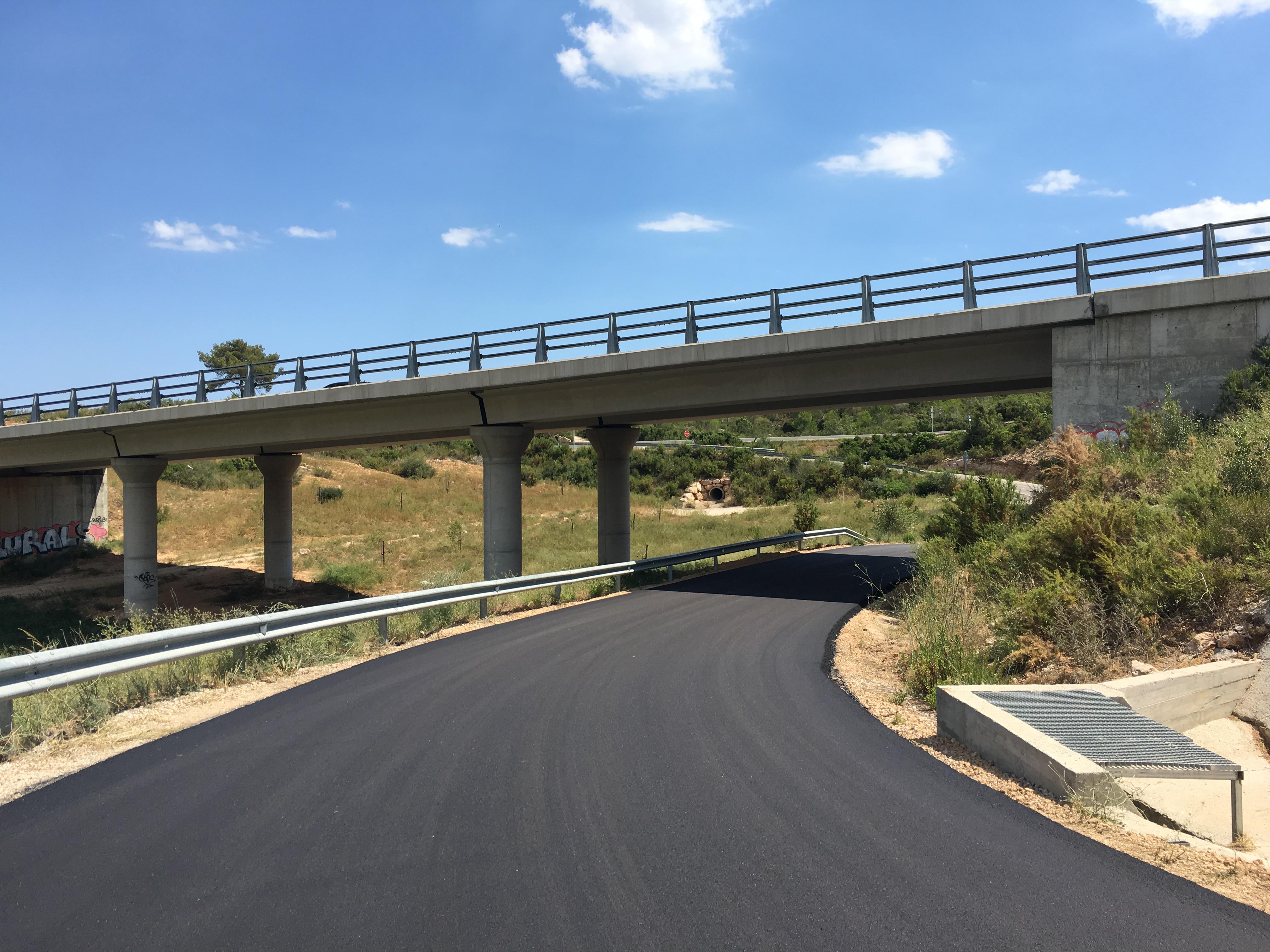La Regidoria de Medi Ambient de l'Ajuntament ha asfaltat l'accés a la urbanització Santa Cristina
